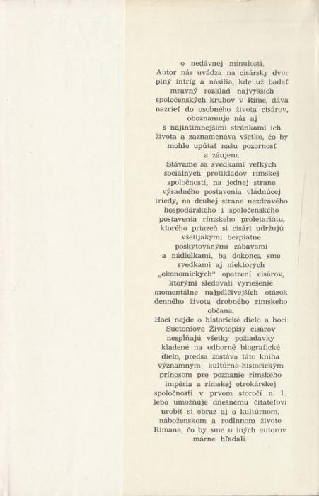Zivotopisy Rimskych Cisarov Gaius Suetonius Tranquillus Antikvart Sk