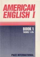 American English I. Book 1 (Tasks 1 - 24)